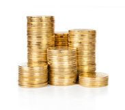 Gold Coins Royalty Free Stock Photos