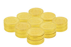Gold Coins. Totaling $100,000 US Royalty Free Stock Images
