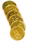 Gold coins stock photos