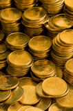 Gold coins. Gold one dollar coins Stock Photo