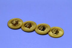 Gold coins royalty free stock photography
