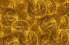 Free Gold Coins Background Stock Photo - 7262040