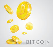 Gold coins bitcoin Stock Photography