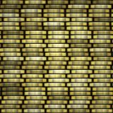 Gold coins. Coin stack seamless texture - coins in columns. Royalty Free Stock Photography