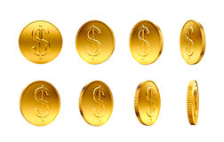 Gold Coins with Dollar Sign Royalty Free Stock Images