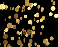 Gold Coins falling Royalty Free Stock Photos