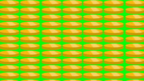 Gold coins falling. Beautiful Looped animation. stock video