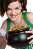 Gold Coins Girl Royalty Free Stock Images