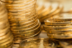 Gold coins. Heap of gold coins,coins Royalty Free Stock Photos