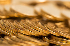 Gold coins. Heap of gold coins,coins Stock Photo