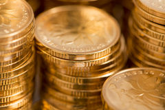 Gold coins Royalty Free Stock Image