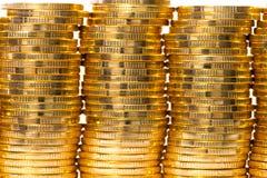 Gold coins. Heap of gold coins,coins Stock Photos