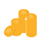 Gold Coins  Icon Sign Business Finance Money Concept Vector. Illustration EPS10r Stock Images