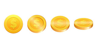 Gold coins illustration Royalty Free Stock Image