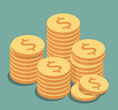 Gold Coins illustration Royalty Free Stock Photos