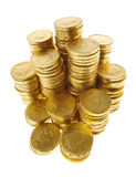 Gold coins isolated Royalty Free Stock Image