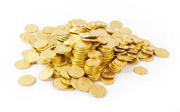Gold coins isolated Stock Image