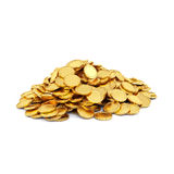 Gold coins. Isolated on a white background stock images