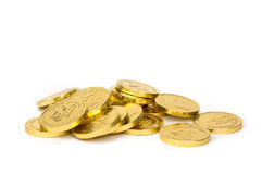 Gold coins. Isolated with white background Stock Photo