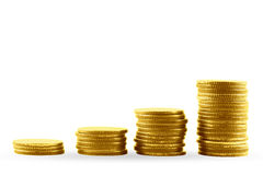 Gold coins. Royalty Free Stock Image