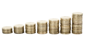 Gold coins Stock Photography