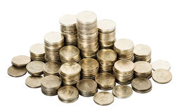 Gold coins Stock Photos