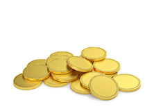Gold coins isolated on white Royalty Free Stock Photography