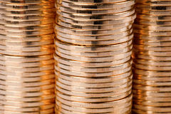 Gold coins. Many gold coins. Loose Change royalty free stock photography