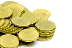 The Gold Coins. Royalty Free Stock Photography