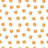 Gold coins. Seamless texture. White background Royalty Free Stock Images