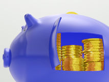 Gold Coins Shows Savings And Investment Royalty Free Stock Photo
