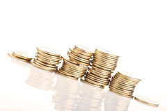 Gold coins stack Royalty Free Stock Photo