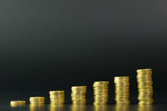 Gold coins stack Royalty Free Stock Photography