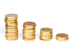 Gold coins staircase Stock Image