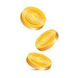 Gold coins vector illustration Stock Images