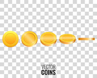 Gold coins vector illustration Stock Photo
