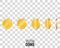 Gold coins vector illustration Royalty Free Stock Images