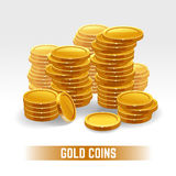 Gold coins vector pile Royalty Free Stock Photo