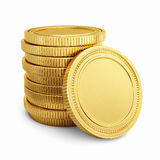 Gold coins stock illustration