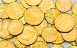 Gold Coins  on white Stock Photo