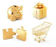 Gold collection Stock Photo