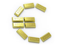 Gold collection - push here Stock Images
