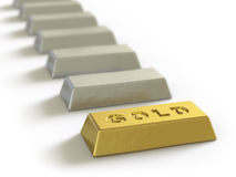 Gold collection - push here Royalty Free Stock Photo