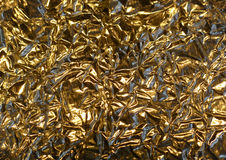 Gold Color Aluminum Foil Stock Images