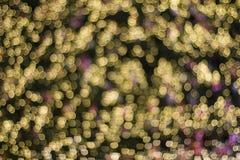 Gold Color Blur Bokeh Royalty Free Stock Photo