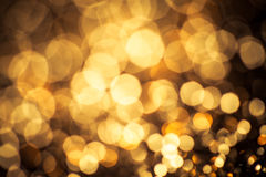 Gold color bokeh glitter background Stock Photo