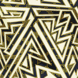 Gold color geometric seamless pattern Royalty Free Stock Photo