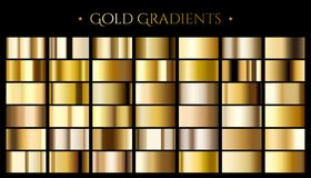 Gold color gradient Royalty Free Stock Photos