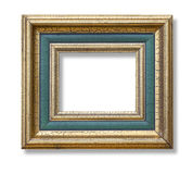 Gold color picture frame Stock Photos