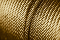Gold color rope sling drum. Royalty Free Stock Images